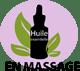 Application par massage ou compresse