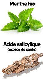 Actifs Menthe bio et acide salicylique