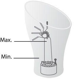 Niveau d'eau brumisateur fontaine Ovale