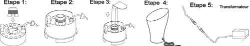 Assemblage brumisateur fontaine Ovale