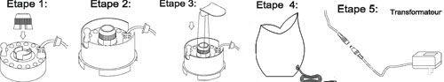 Assemblage brumisateur fontaine Tulipe