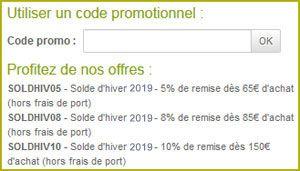 Utiliser un code promotionnel