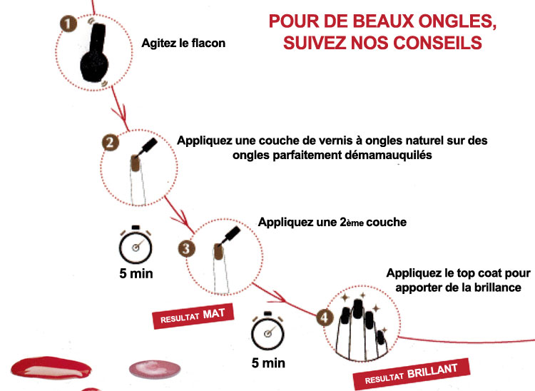 Application du vernis à ongles bio Logona